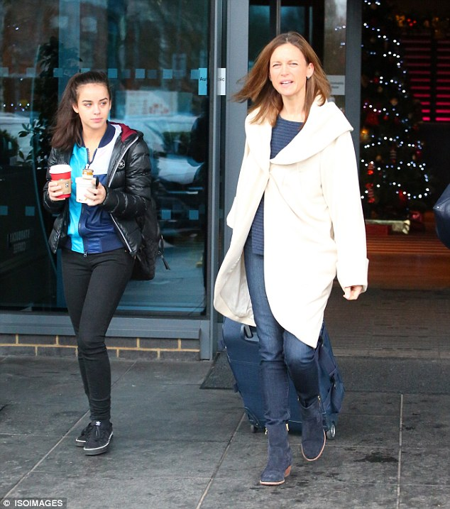 Competitors: Her competitorKatie Derham (right) appeared to be keeping things civil and they left together