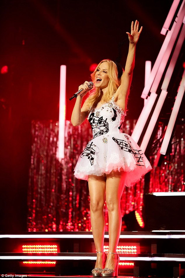 They should be so lucky! The Royal Albert Hall was treated to a one-off Christmas gig from Kylie Minogue on Friday night as she promoted her festive album