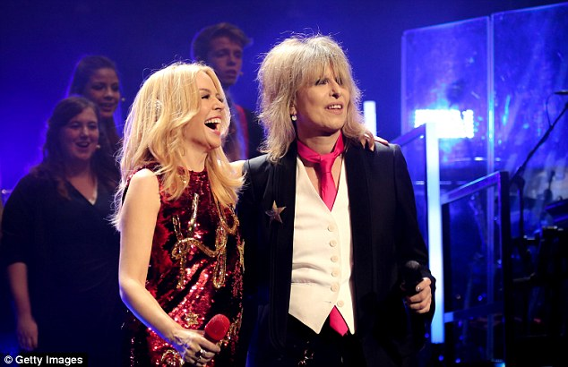 Another star guest: Kylie was also joined by Chrissie Hynde for a duet of the song 2000 Miles