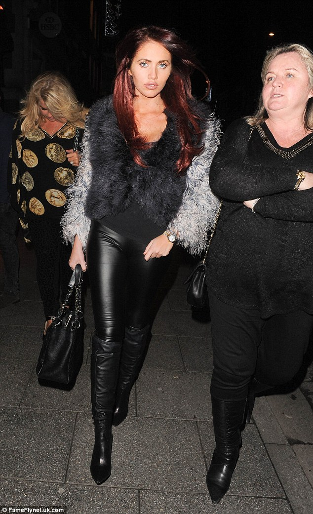 Also in attendance: Lydia's old pal Amy Childs was also at the Sugar Hut on Friday night