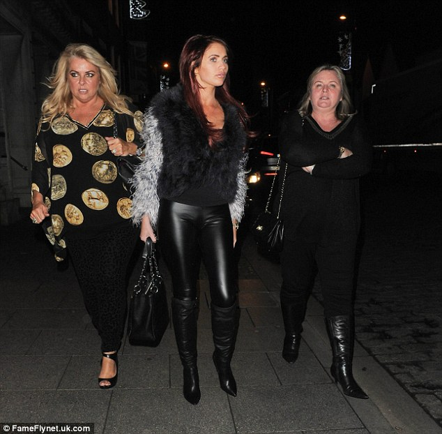 Gals' night: Amy was surrounded by women, including Julie Childs and Claire Powell