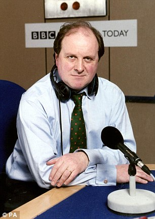 At nine o'clock on Wednesday morning, James Naughtie (pictured) will get up from the presenter's chair in the Today studio for the last time