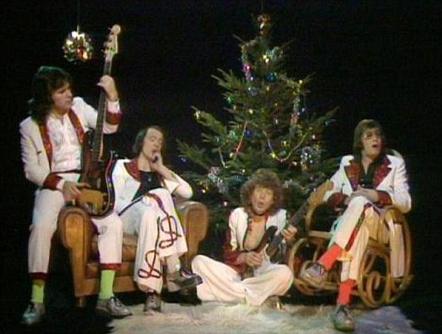 Mud were at No 1 for four weeks with Lonely This Christmas which mimicked Elvis Presley's ballad style