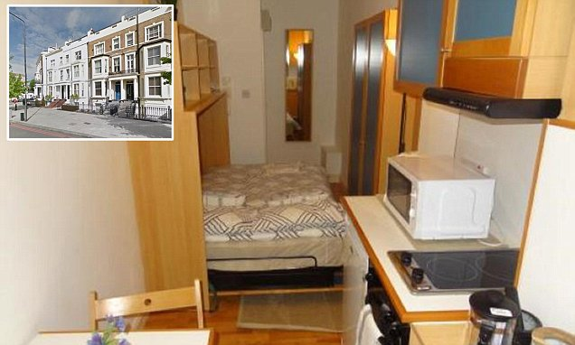 Cost of 'cosy' studio in the heart of London edges towards £1,000 a month