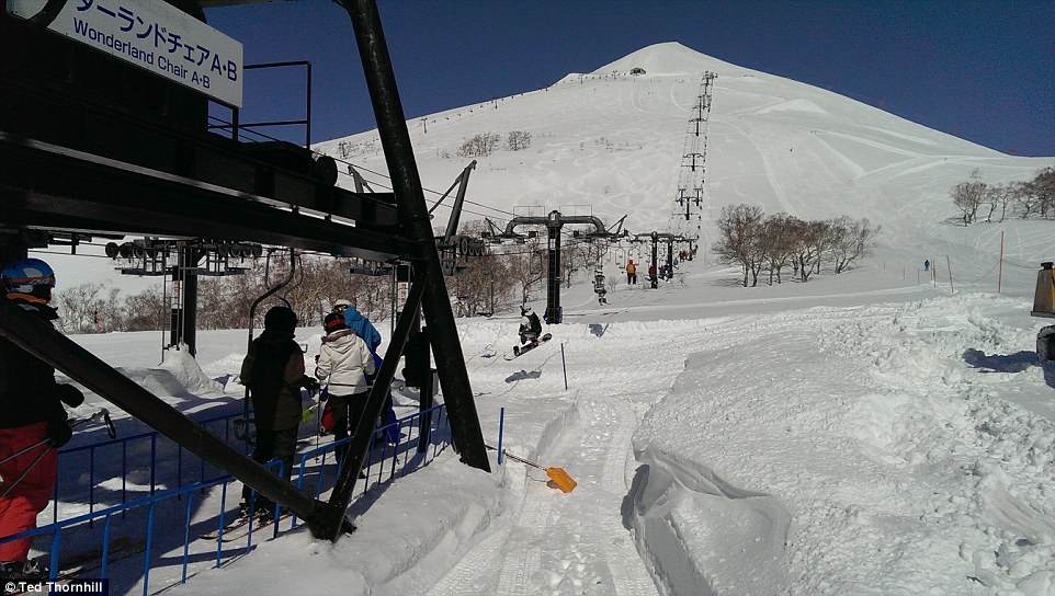 The 'Wonderland Chair' is one of the scariest in any resort - as it's a single seater, with no safety bar