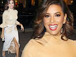 \nExclusive: Eva Longoria wears all beige while arriving at her hotel in New York City. Eva has been busy promoting her new NBC sitcom, Telenovela, her first project since starring in ABC's Desperate Housewives which ended in 2012.\n Please byline:TheImageDirect.com\n*EXCLUSIVE PLEASE EMAIL sales@theimagedirect.com FOR FEES BEFORE USE