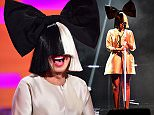 Sia during filming of the Graham Norton Show at The London Studios, south London, to be aired on BBC One on Friday evening. PRESS ASSOCIATION Photo. Picture date: Thursday December 10, 2015. Photo credit should read: PA Images on behalf of So TV.