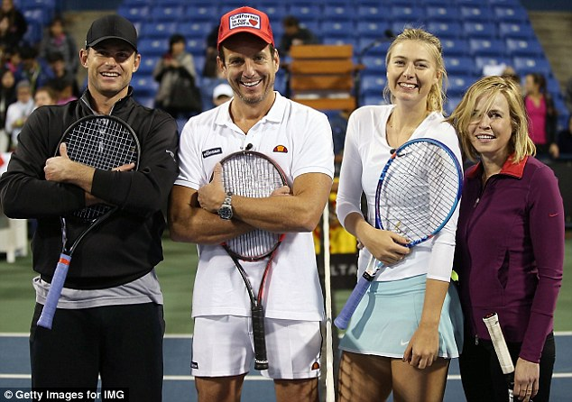 Four play tennis: But only two could be victorious in this epic battle of the sexes
