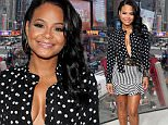 """NEW YORK, NY - DECEMBER 11:  Christina Milian visits """"Extra"""" at their New York studios at H&M in Times Square on December 11, 2015 in New York City.  (Photo by D Dipasupil/Getty Images for Extra)"""