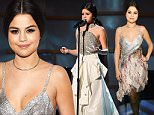 NEW YORK, NY - DECEMBER 11:  Selena Gomez performs onstage during Billboard's 10th Annual Women In Music on Lifetime at Cipriani 42nd Street on December 11, 2015 in New York City.  (Photo by Kevin Mazur/Getty Images for Lifetime)
