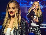 """LONDON, ENGLAND - DECEMBER 11:  Rita Ora performs with Sigma during a  broadcast of """"TFI Friday"""" at Cochrane Theatre on December 11, 2015 in London, England.  (Photo by Jeff Spicer/Getty Images)"""