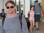 "Hugh Jackman was all smiles as he departed Adelaide on a Sunday afternoon. Hugh waved to waiting fans as he made his way through the airport with daughter Ava. \nHugh currently in Australia for his ""Broadway to Oz"" shows. He played 3 sold out nights in Adelaide and now plays perth in 2 days. \n"