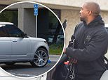 EXCLUSIVE TO INF.\nDecember 11, 2015: Kanye West, pictured for the first time since the birth of his son, Saint West, is seen heading into a business meeting while wearing a pair of stylish mountain boots and a tour hoodie to keep warm.  He is also seen incorrectly parking in the handicap parking spot. Gifts from friends and business partners are delivered to the happy father at the exchange, Los Angeles, CA.\nMandatory Credit: Borisio/SAA/INFphoto.com Ref.: infusla-277/302