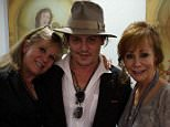 reba@janinedunn and I loved getting to visit with Johnny Depp and his group last night after our show at Caesars. What a nice man!!!!#chocolat #findingneverland