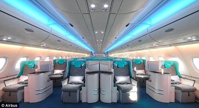 Business class on the Airbus A380s offer roomy and relaxing areas for passengers to enjoy