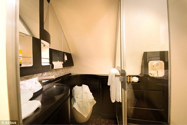 The Residence has its own shower and is a specific luxury offered on selected routes for Etihad