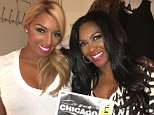 NeNe Leakes Nov 11 Well looky looky??Who would have ever thought...Ms Kenya Moore paid me a visit tonight on Broadway! @thekenyamoore I really appreciate your support and the beautiful flowers