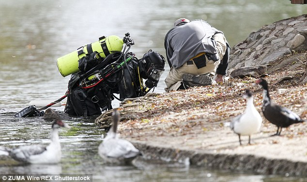 Federal authorities were tipped that the small lake in a park about three miles from the terror attack might hold the hard drive