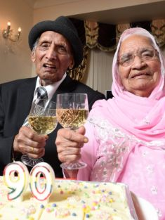 World's oldest married couple aged 110 and 103 celebrate their 90th wedding anniversary