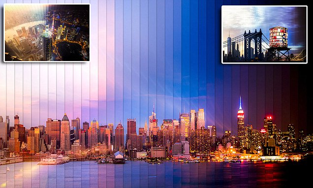 Daniel Marker-Moore snaps time slice images of New York, LA and Shanghai