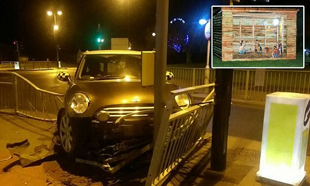 Drunk driver in North Yorkshire tries to hide from police in nativity scene