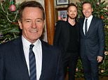 NEW YORK, NY - DECEMBER 13:  Actors Aaron Paul (L) and Bryan Cranston attend a celebration for Bryan Cranston at House of Elyx on December 13, 2015 in New York City.  (Photo by Andrew Toth/Getty Images)
