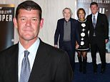Celebrity Arrivals at the 'JOY' Premiere in NYC....Pictured: Robert de Niro and Grace Hightower and James Packer..Ref: SPL1195768  131215  ..Picture by: Richie Buxo / Splash News....Splash News and Pictures..Los Angeles: 310-821-2666..New York: 212-619-2666..London: 870-934-2666..photodesk@splashnews.com..