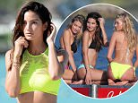 EXCLUSIVE TO INF. PLEASE CALL FOR PRICING. December 11, 2015: Victoria's Secret models Lily Aldridge, Martha Hunt, and Elsa Hosk Pose in bikinis during a photoshoot on the beach in St. Barths. Mandatory Credit: INFphoto.com Ref: infusmi-11/13