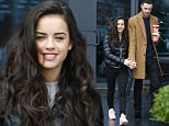 EXCLUSIVE ALL ROUND\nStrictly Come Dancing finalist Georgia May Foote and her Coronation St actor boyfriend Sean Ward pictured here leaving their London hotel celebrating with a coffee after Georgia gets through to the Final of Strictly\nBYLINE : ISOIMAGES must be used