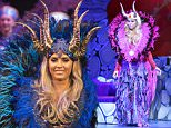 13 Dec 2015  - WOKING  - UK\n*** EXCLUSIVE ALL ROUND PICTURES ***\nKATIE PRICE (JORDAN) STARS ON STAGE AS MALEFICENT IN SLEEPING BEAUTY PANTO AT THE AMBASSADORS THEATRE IN WOKING\nBYLINE MUST READ : XPOSUREPHOTOS.COM\n***UK CLIENTS - PICTURES CONTAINING CHILDREN PLEASE PIXELATE FACE PRIOR TO PUBLICATION ***\n**UK CLIENTS MUST CALL PRIOR TO TV OR ONLINE USAGE PLEASE TELEPHONE  442083442007