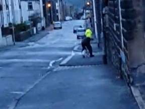 A still image from the video of the dog punching incident released by the RSPCA.
