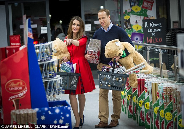 Mr Holding added: 'We're hugely proud of our new location and it's fair to say that our store has everything any self-respecting king, queen, prince or princess would need to make their Christmas a right royal occasion without the regal price'