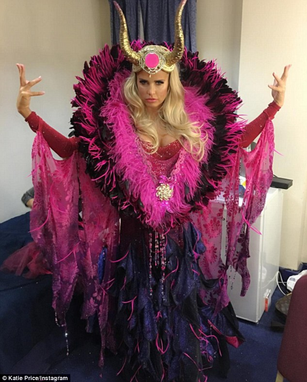 Fairly outlandish!Katie Price was all dressed up for a good reason on Friday night as she prepared to make her pantomime debut at the New Victoria Theatre in Woking
