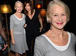 NEW YORK, NY - DECEMBER 13:  Helen Mirren (L) and Gina Gershon attend a celebration for Bryan Cranston at House of Elyx on December 13, 2015 in New York City.  (Photo by Andrew Toth/Getty Images)