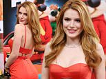"""MIAMI, FL - DECEMBER 14:  Bella Thorne is seen on the set of """"Despierta America"""" to promote the film """"Alvin and the Chipmunks: The Road Chip"""" at Univision Studios on December 14, 2015 in Miami, Florida.  (Photo by Alexander Tamargo/Getty Images)"""