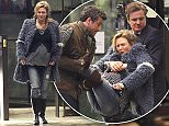 Picture Shows: Patrick Dempsey, Renee Zellweger, Colin Firth  December 06, 2015\n \n * Strictly No Web / Online Until After Midnight GMT  on Sunday 13th Dec *\n \n * Min web / online fee for set after midnight is £500 *\n \n Renee Zellweger seen filming 'Bridget Jones's Baby' with co-stars, Colin Firth and Patrick Dempsey at the UCLH in London, UK. In the scene, Mark and Jack are carrying Bridget into a Maternity unit in a hurry. Scenes were shot in between rain showers and doubles were used at times.\n \n * Strictly No Web / Online Until After Midnight GMT  on Sunday 13th Dec *\n \n * Min web / online fee for set after midnight is £500 *\n \n Exclusive All Rounder\n WORLDWIDE RIGHTS\n Pictures by : FameFlynet UK © 2015\n Tel : +44 (0)20 3551 5049\n Email : info@fameflynet.uk.com