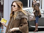 LONDON, ENGLAND - DECEMBER 14:  (EXCLUSIVE COVERAGE) (MINIMUM ONLINE/WEB USAGE FEE £150 FOR THE SET) Geri Halliwell is seen after receivinga parking ticket on December 14, 2015 in London, England.  (Photo by Crowder/Legge/GC Images)
