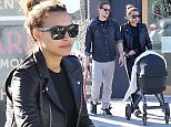 *** Fee of £200 applies for subscription clients to use images before 22.00 on 141215 *** EXCLUSIVE ALLROUNDERNaya Rivera Dorsey out for a stroll after having lunch with her baby boy Josey and husband Ryan at Bon Vivant Market & Cafe in Glendale, California. The 'Glee' star gave a big smile with husband as they looked down at their baby boy while fixing his car seat. Naya got her slim body back just 3 months after giving birth to her first child. Featuring: Naya Rivera Dorsey, Ryan Dorsey, Josey Hollis Dorsey Where: Los Angeles, California, United States When: 12 Dec 2015 Credit: Tical/JFXimages/WENN.com