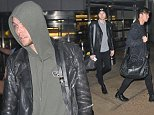 5 Seconds of summer arrive into Washington DC for the hot 99.5 jingle ball ....Pictured: 5 seconds of summer..Ref: SPL1189010  131215  ..Picture by: splash news....Splash News and Pictures..Los Angeles: 310-821-2666..New York: 212-619-2666..London: 870-934-2666..photodesk@splashnews.com..