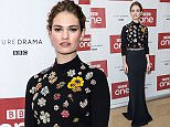 Mandatory Credit: Photo by James Gourley/REX/Shutterstock (5491859e)\n Lily James\n BBC 'War & Peace' TV series photocall, London, Britain - 14 Dec 2015\n \n