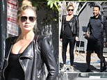 West Hollywood, CA - Chrissy Teigen and John Legend leave the gym together. Chrissy shows off her baby bump in a tight black top. The expecting parents both wore monochrome black as they walked together heading for some Melrose shopping.\n  \nAKM-GSI        December 14, 2015\nTo License These Photos, Please Contact :\nSteve Ginsburg\n(310) 505-8447\n(323) 423-9397\nsteve@akmgsi.com\nsales@akmgsi.com\nor\nMaria Buda\n(917) 242-1505\nmbuda@akmgsi.com\nginsburgspalyinc@gmail.com