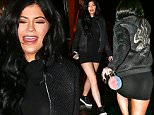 UK CLIENTS MUST CREDIT: AKM-GSI ONLY\nEXCLUSIVE: Calabasas, CA - Kylie Jenner thought she was being sneaky by sliding out the back door of Sugarfish Sushi in Calabasas, only to be met by surprise at her SUV by a waiting paparazzi.\n\nPictured: Kylie Jenner\nRef: SPL1196037  131215   EXCLUSIVE\nPicture by: AKM-GSI / Splash News\n\n