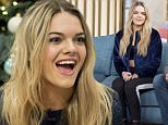 LONDON, ENGLAND - DECEMBER 14:  Louisa Johnson, winner of X Factor 2015 seen at the ITV Studios after appearing on This Morning on December 14, 2015 in London, England.  (Photo by Neil Mockford/Alex Huckle/GC Images)
