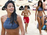 EXCL VIDEOPICS Pia Miller visits Sydney beach with son 51.jpg