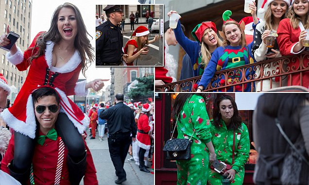 Saint Nicks paint New York red for Santacon with the all-day 'Merry Marathon'