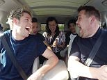 """One Direction joins James Corden for Carpool Karaoke on """"The Late Late Show with James Corden,"""" airing Tuesday, December 15th, 2015 (12:37 -- 1:37 AM, ET/PT) on The CBS Television Network.   Photo: CBS é2015 CBS Broadcasting, Inc. All Rights Reserved"""