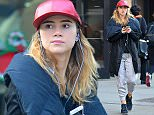 Picture Shows: Suki Waterhouse  December 14, 2015    Model/Actress Suki Waterhouse spotted out and about in New York City, New York. Suki was rocking a backpack that had her initials 'SW' sewn onto the back.    Exclusive All Rounder  UK RIGHTS ONLY    Pictures by : FameFlynet UK © 2015  Tel : +44 (0)20 3551 5049  Email : info@fameflynet.uk.com