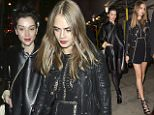 MUST BYLINE: EROTEME.CO.UK Cara Delevingne and St Vincent leaving the Wave Makers charity concert at The Scala. Both Cara and Annie had smudged lipstick and wearing rings on their engagement fingers, as they headed to their car.  NON-EXCLUSIVE December 16, 2015 Job: 151217L1  London, England EROTEME.CO.UK 44 207 431 1598 Ref: 341629
