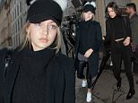 Gigi and Bella Hadid seen out and about in Paris 16 December 2015. Please byline: Vantagenews.com