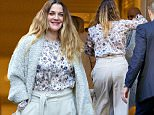 December 16, 2015: Drew Barrymore arrives at Club Monaco in New York City where for a meet and greet with fans where she will sign copies of her new book, 'Wildflower.'\nMandatory Credit: Alberto Reyes/INFphoto.com  Ref: infusny-261